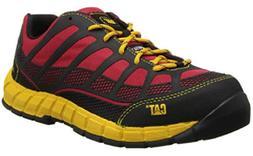 Caterpillar Mens Streamline Comp Toe Work Shoes RED BLACK P9