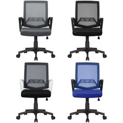 Mid-Back Mesh Office Chair Ergonomic Height Adjustable Compu