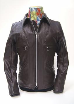 Vanson Model F, Brown Comp. Weight Leather Jacket, IN STOCK