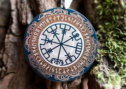 Viking Necklace Compass Custom Engrave  Rune Compass Magic P