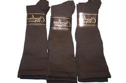 New 6 pr Men's Black Compression Socks Sz 13-15