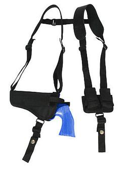 NEW Barsony Horizontal Shoulder Holster w/ Speed-loader Pouc