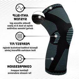 NEW POWERLIX Knee Compression Sleeve - Knee Brace for Men &