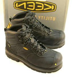 New KEEN Tacoma Size 12 EE Black Composite Toe Men's Work Bo