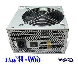 NEW Enlight  Ultra Quiet Fan ATX 600W Intel i7 i5 2x PCIE Ga
