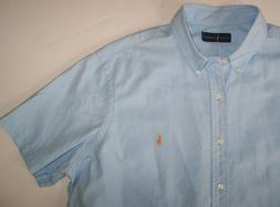 NWT Ralph Lauren LIGHT BLUE Woven Cotton Camp Shirt Men's XX