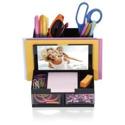 OfficemateOIC Versa Plus Deluxe Photo Desk Organizer, 7 Comp