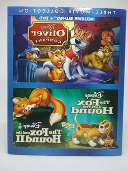 Disney Oliver And Company/ Fox And The Hound 1&2 Three Movie