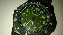 One Military Style Wrist Watch with Decorative compass and C
