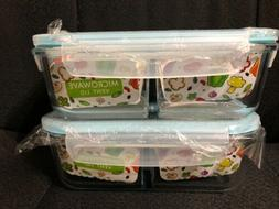 Borosilicate Oven-Safe Glass Containers with Leak-Proof Lids
