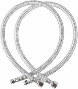 "Faucet 3/8"" Comp x M10 Male Steel Braided Water Supply 18"""