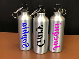 Personalised Custom Travel Bottle Metal Insulated Any Name C