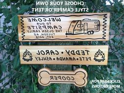 Personalized Custom Camp Sign Campsite Sign Campgrounds Sign