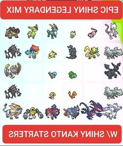 Pokemon Sword and Shield Epic Shiny Legendary Mix 6 IV LV 10