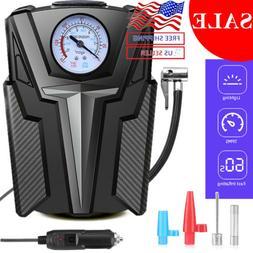 Portable Car Air Compressor Heavy Duty Inflator Tire Pump wi