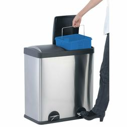 Portable household kitchen 16-Gallon 2-Compartment Trash Can