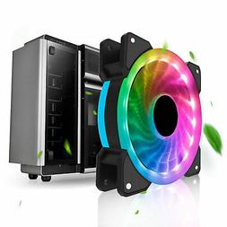 RGB Computer Fan LED Air Cooling 120mm 4Pin to 3Pin RGB Case