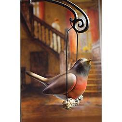 Singing Robin Hand-Painted Hanging Resin Figurine
