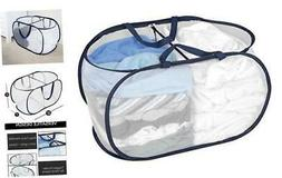 Smart Design Deluxe Mesh Pop Up 2 Compartment Laundry Sorter