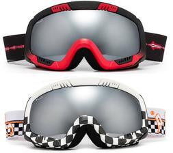 Snow Ski Goggles Dual Lens Pattern Frame Windproof Anti Fog