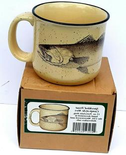Speckled Trout Camp Style Mug 15oz Porcelain Mug Made In The