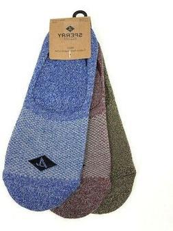 SPERRY Mens 3 pack Athletic Compression Marled Liner Socks 1
