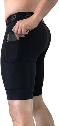 Sport-It Men'S Compression Workout Shorts Leggings With Pock