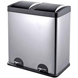 Step N' Sort 16-Gallon 2-Compartment Trash and Recycling Bin