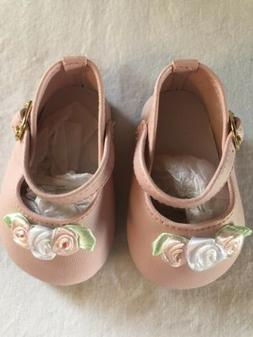 Monique Trading Co Doll Shoes #791 Ankle Strap W/Rose