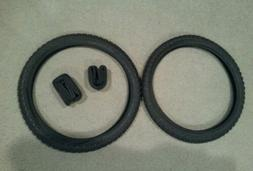 TWO DURO 20X1.75 BMX BICYCLE TIRES BLACK COMP 3 TYPE & 2 TUB