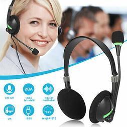USB Headset with Microphone Noise Cancelling Computer Headse