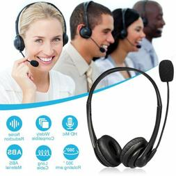 USB Noise Cancelling Microphone Headset for Laptop PC Comput