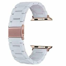 V-MORO Resin Strap Compatible with Apple Watch Band 38mm 40m