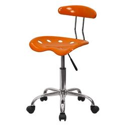 Flash Furniture Vibrant Orange and Chrome Computer Task Chai
