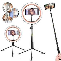 LED Ring Light With Stand For iPhone Selfie Makeup Photograp