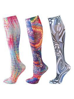 Women's Mild Bright Colors Compression Wide Calf Knee High S