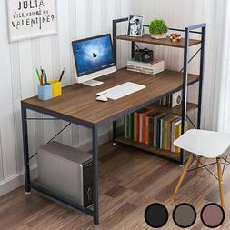 Wooden Corner Computer Desk Home Office PC Laptop Table H Sh