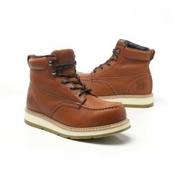 Work Boots for Men Soft Toe Waterproof Safety boots Leather