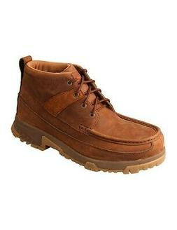 """Twisted X Work Boots Men 4"""" Lace Up Composite Toe Oiled Sadd"""