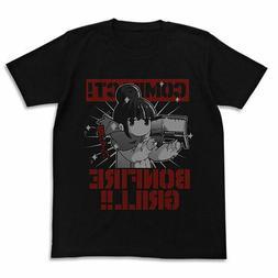 Yuru Camp Rin no Takibi Grill Cospa Character Black T-shirt